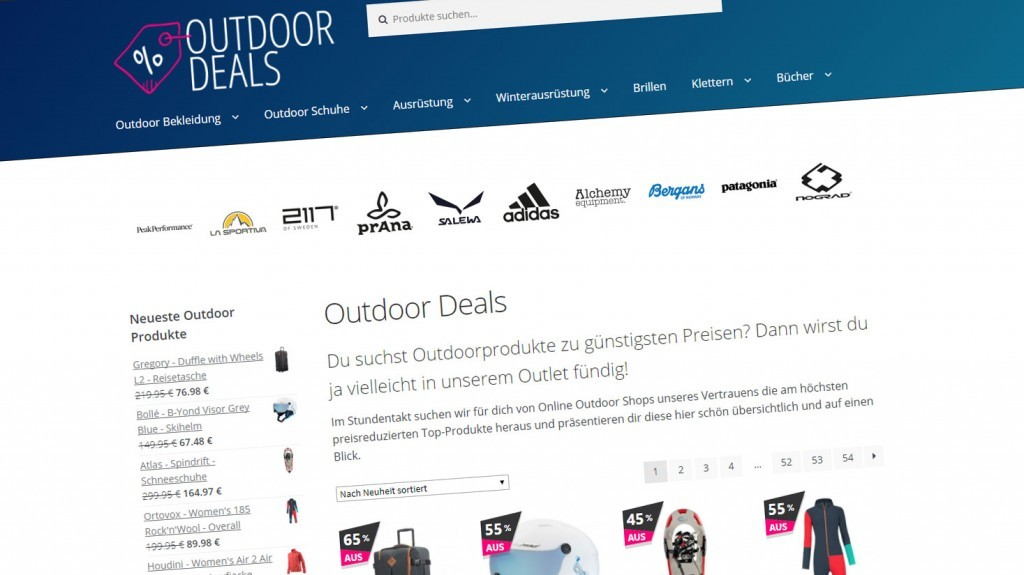 Outdoor.Deals Homepage