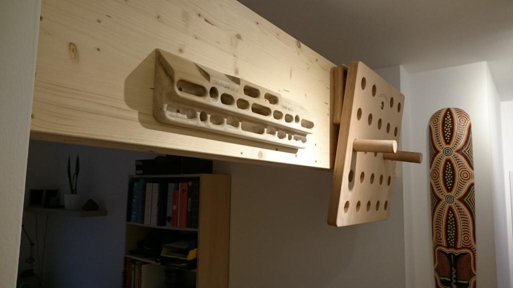 Montieren eines Hangboards
