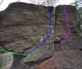 some easy lines in TraHü (all between EASY [FB 3 - 6A]  and MEDIUM [6A - 7A]))